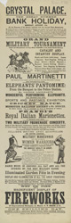 Poster advertising Crystal Palace 974